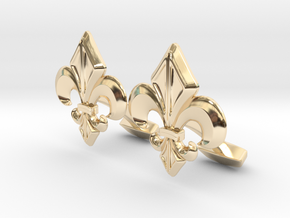 Designer Cufflink in 14K Yellow Gold