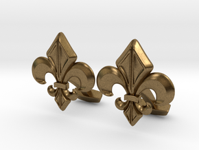 Gothic Cufflinks in Natural Bronze