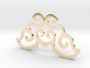 Love is a butterfly in 14k Gold Plated Brass