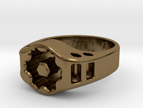 US11 Ring XIX: Tritium (Silver) in Polished Bronze