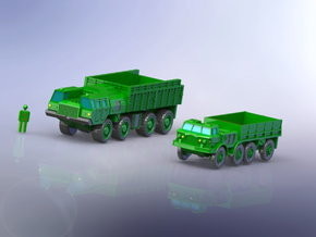 Russian MAZ 7310 & ZIL 135 1/285 6mm in Smooth Fine Detail Plastic