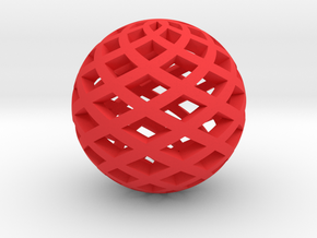 Sphere, Small in Red Processed Versatile Plastic