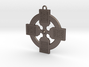 Celtic Cross 011 in Polished Bronzed Silver Steel