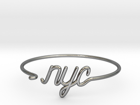 NYC Wire Bracelet (New York City) in Polished Silver