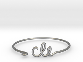 CLE Wire Bracelet (Cleveland) in Natural Silver