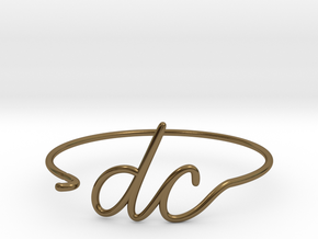 DC Wire Bracelet (Washington, D.C.) in Polished Bronze
