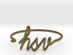 HSV Wire Bracelet (Huntsvegas) in Natural Bronze