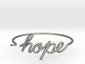 Hope Wire Bracelet in Polished Silver