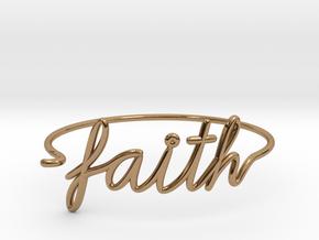 Faith Wire Bracelet in Polished Brass