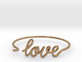 Love Wire Bracelet in Polished Brass