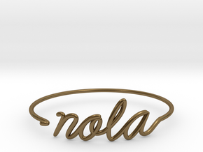 NOLA Wire Bracelet (New Orleans) in Polished Bronze