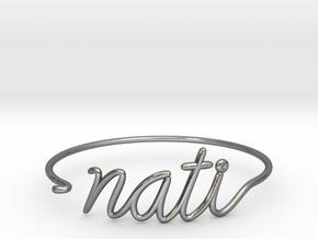 NATI Wire Bracelet (Cincinnati) in Polished Silver