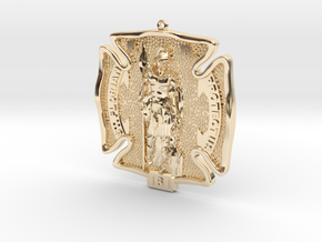 St Florian Protyect Us in 14K Gold