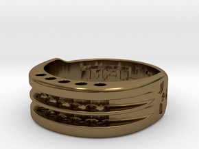 US17 Ring XI: Tritium, Five Holes in Polished Bronze