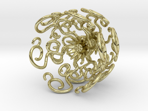 Flower Vine Jhumka - Indian Bell Earrings in 18k Gold Plated Brass