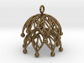 Leaf Jhumka - Indian Bell earrings in Natural Bronze