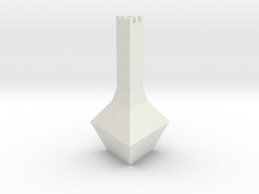 Chess Pawn Tower in White Strong & Flexible
