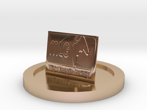 MLG Statue in 14k Rose Gold Plated Brass