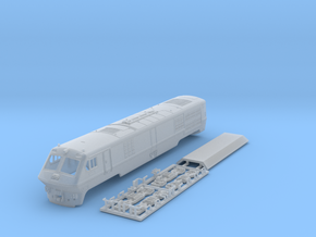 VIA / Amtrak LRC Loco (motorized end) N Scale in Smoothest Fine Detail Plastic