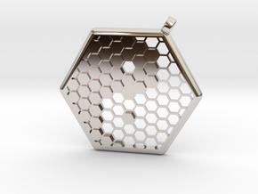 Honeycomb Yin Yang Pendant in Platinum