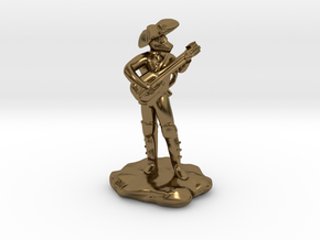 Dragonborn Pirate Bard with Lute and Crossbow in Polished Bronze