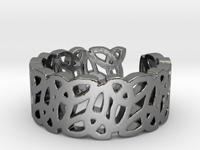 Open Celtic Knot Ring Ring Size 10 in Premium Silver