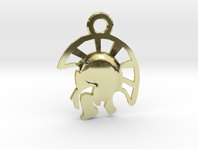Warrior Pendant in 18k Gold Plated Brass