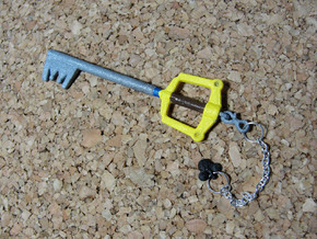 KH Keyblade Kingdom Key pendant in White Natural Versatile Plastic