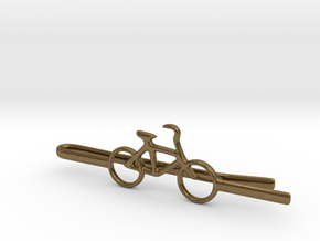 Bicycle tie clip in Natural Bronze