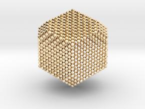 Jitterbug alchemy dice in 14k Gold Plated Brass