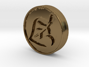 Animal Crossing Leaf Coin in Polished Bronze