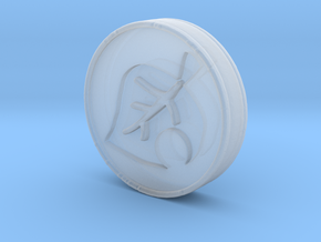 Animal Crossing Leaf Coin in Smooth Fine Detail Plastic