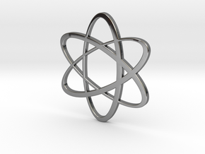 Atom Pendant in Fine Detail Polished Silver