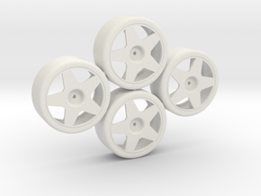 Losi Micro 1/24 Drift Wheel Set in White Natural Versatile Plastic