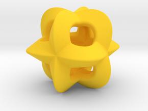 Pendant-c-4-3-10-p1o in Yellow Processed Versatile Plastic
