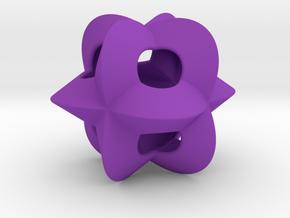 Pendant-c-4-3-30-p1o in Purple Processed Versatile Plastic