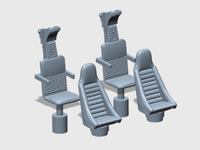 YT1300 DEAGO CABIN COCKPIT SEATS in Smooth Fine Detail Plastic