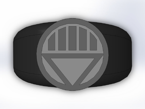 Black Lantern Ring in Full Color Sandstone