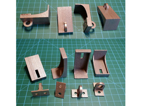 Padlock Hasp (compatible w/ IKEA MORLIDEN door) in Stainless Steel