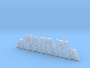 Made in AUSTRALIA Pendant in Smooth Fine Detail Plastic