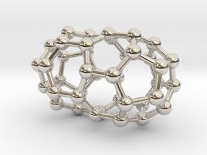 0107 Fullerene C40-1 d5d in Rhodium Plated Brass