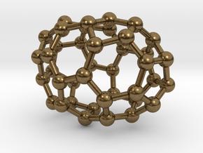 0108 Fullerene C40-2 c2 in Natural Bronze