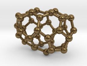 0109 Fullerene C40-3 d2 in Polished Bronze