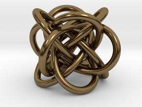 Tetraknot Pendant in Polished Bronze