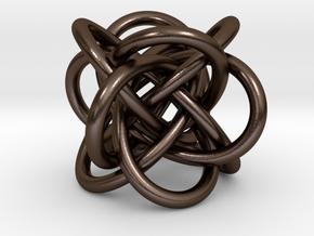 Tetraknot Pendant in Polished Bronze Steel