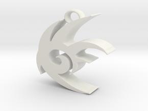 Shadow The Hedgehog Logo in White Natural Versatile Plastic
