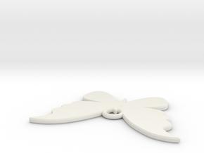 Pendant Flower 29 in White Natural Versatile Plastic