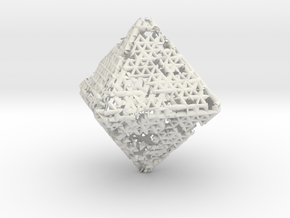Octahedron math art in White Natural Versatile Plastic