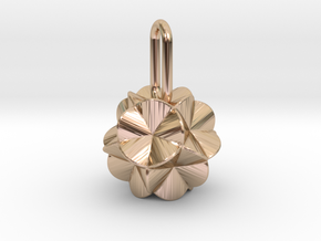 Pendant-c-6-5-10-90 in 14k Rose Gold Plated Brass