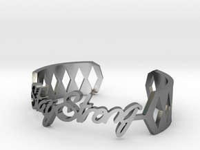 Bracelet:Stay Strong in Polished Silver: Medium